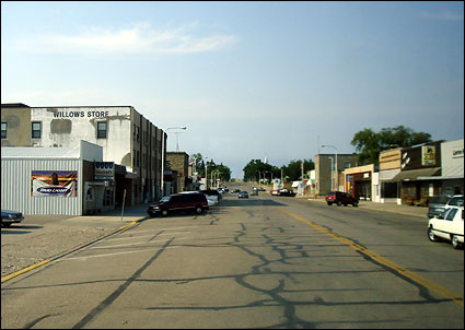 Downtown view of Linton