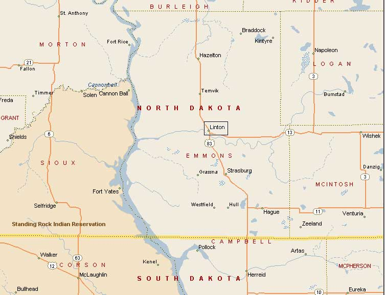 Linton ND Pictures - Where is north dakota