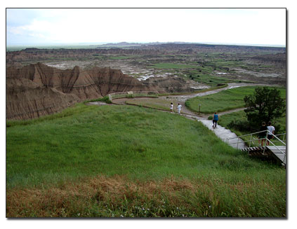 Scenic Badlands viewpoint