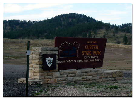 Custer State Park sign
