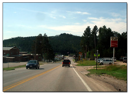 Heading south on Hwy 16 into Custer