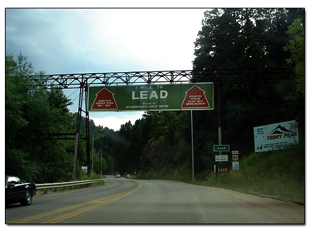 Entering the town of Lead
