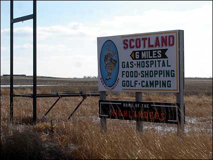 Scotland SD highway sign